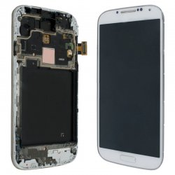 Samsung i9505 Front+Lcd+Touch Screen white