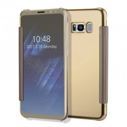 CLEAR VIEW COVER FOR SAMSUNG GALAXY S8 GOLD