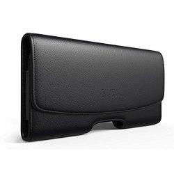Belt leather Case black for iPhone 6 Plus, Plus 6S Plus, 7 Plus 5.5