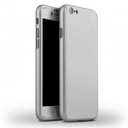 Ultra Thin 360° Full Body Protective Case For iPhone 7 Silver