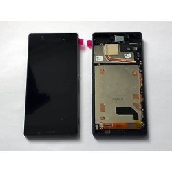 LCD for SONY Xperia Z3 Dual SIM 4G touch screen frame Black
