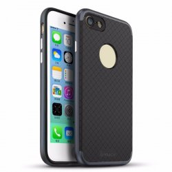 iPhone 7 iPaky Ultra Thin Hybrid PC Frame + Silicone Back Plate Shockproof Drop BLACK