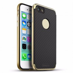iPhone 7 iPaky Ultra Thin Hybrid PC Frame + Silicone Back Plate Shockproof Drop GOLD