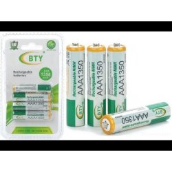 BTY 1350mah NIMH AAA Rechargeable Battery aaa Batterie 1.2V NI-MH