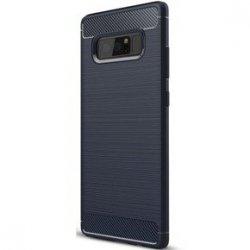 Samsung Galaxy Note 8 Case Carbon Fiber Design TPU Flexible Soft Dark Blue