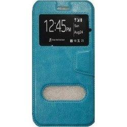 SONY Xperia M5 E5633 / E5663 BOOK CASE BLUE WITH WINDOW