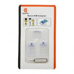 Griffin 3-in-1 Nano Sim Adapter White