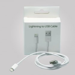 Apple iPhone & iPad Lightning Cable Blister OEM WHITE