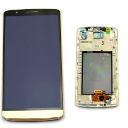 LG G3 D855 LCD + Touch Screen + frame Gold