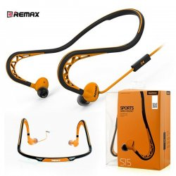 Remax S15 Sports Wired Headset Orange