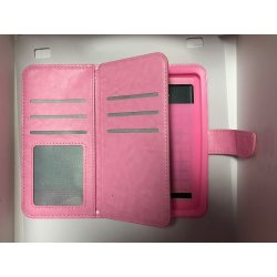 "Universal Mobile Case Book Wallet 5.0""-5.3"" Pink"