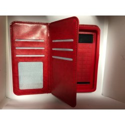 """Universal Mobile Case Book Wallet 5.0""""-5.3"""" Red"""