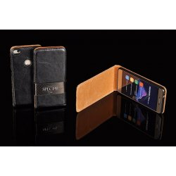 Nokia 3 Flip Case Leather Black Kabura