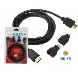 HDMI Cable 3 in 1 HDTV Cable (FULL HD) 1.5m