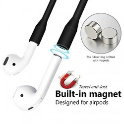 Totu Magnetic Sport Silicone Strap For Airpods Black