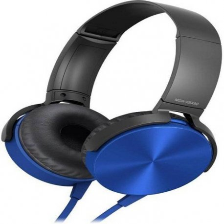 MDR-XB450 Wired Headset And Headphone With Mic. Blue