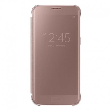 Samsung Galaxy S7 G930 Clear View Case RoseGold