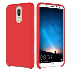Huawei Mate 10 Lite Silky And Soft Touch Silicone Cover Red