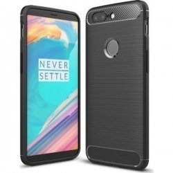 OnePlus 5T Silicon Case Carbon Fiber Brushed