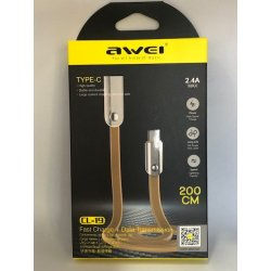 Awei CL-19 Type C Cable 2m Gold