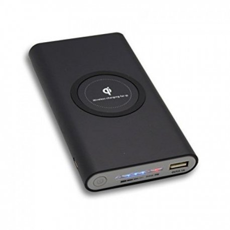 UVR QI Wireless Charger Power Bank 10000mAH Black