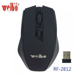 Weibo Rf-2812 Computer Wireless Mouse Black