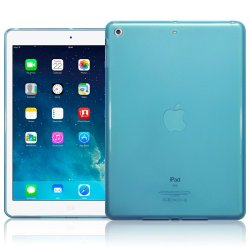 Ipad Air Silicon Case Transperant Matte Blue