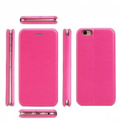 Samsung Galaxy J4 Plus Book Case Magnet Hard Pink
