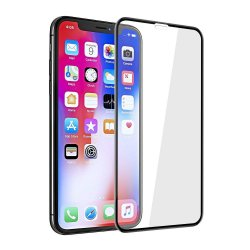 IPhone XS Max Tempered Full Screen Protector 5D Black