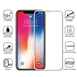 IPhone XS Max Tempered Full Screen Protector 5D White