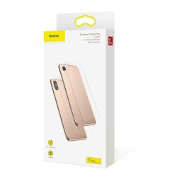 Baseus ABM02 Full Tempered Glass Back Protector for iPhone XS Max Transparent