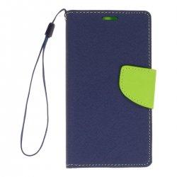 """Alcatel Idol 3 4,7"""" Fancy Book Case Navy-Lime"""