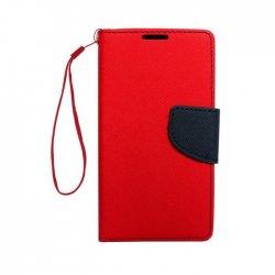 """Alcatel Idol 3 4,7"""" Fancy Book Case Red-Navy"""