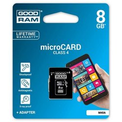 GoodRam M40A MicroSD 8GB Class 4 With Adapter