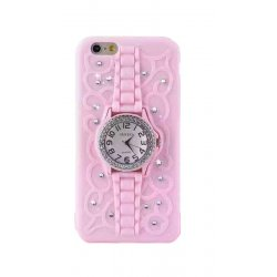 IPhone 6/6s Clock Silicon Case Pink