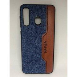 Xiaomi Redmi Note 7 Retro Jean Denim PU Leather Case Blue-Brown