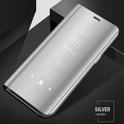 Xiaomi Redmi 7 Book Case Clear View Silver
