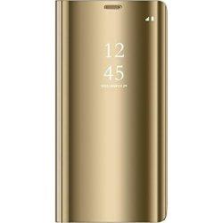 Xiaomi Redmi 7 Book Case Clear View Gold