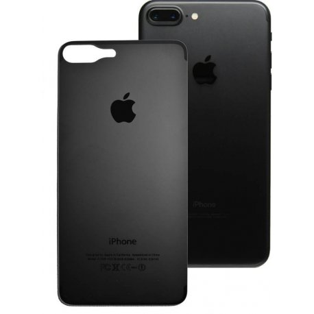 IPhone 7 Plus/8 Plus Back Tempered Glass Black