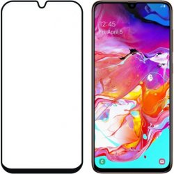 Samsung Galaxy A70 A705/A02S 9D Full Glue Gorilla Tempered Glass 9H Black