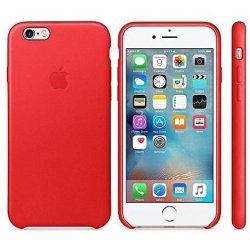IPhone 7/8 Leather Oem Back Case Red
