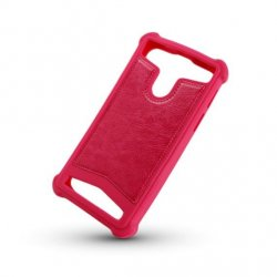 Universal Silicon TPU Case Leather Skin size 5.3 - 5.8 Pink