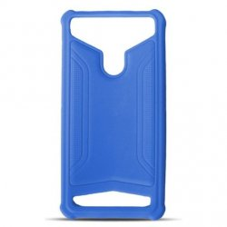 Universal Silicon TPU Case Leather Skin size 5.3 - 5.8 Blue