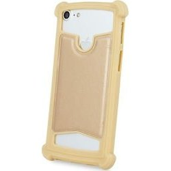 Universal Silicon TPU Case Leather Skin size 5.3 - 5.8 Gold
