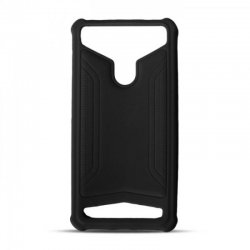 Universal Silicon TPU Case Leather Skin size 4.8 - 5.3 Black