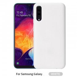 Samsung Galaxy A70 A705 Silky And Soft Touch Finish Silicon Case White