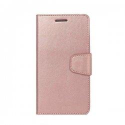 Samsung Galaxy A7 2018 A750/A8 Plus A730 Book Case RoseGold