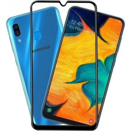 Samsung Galaxy A50 A505/A30 A305 5D Full Glue Gorrila Tempered Glass 9H Black