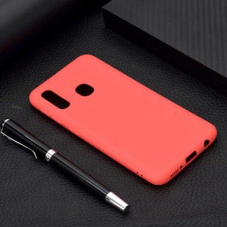 Samsung Galaxy A20e A202 Level Guardian Soft Silicone Cover Case Red