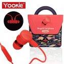 Yookie Magnet Earphone YK1000 Red